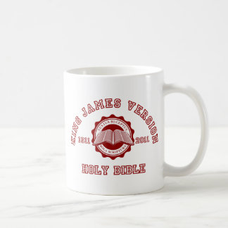 King James Version College Style in red Coffee Mug