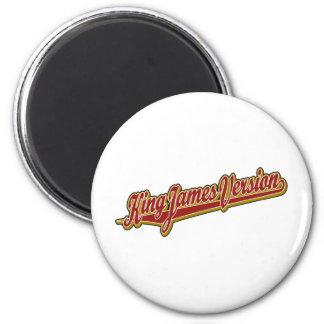 King James Version fancy logo 2 Inch Round Magnet