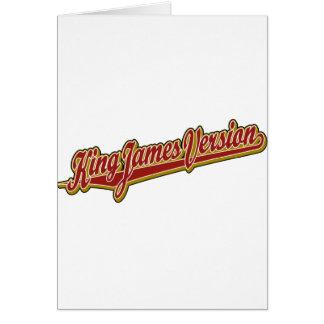King James Version fancy logo Card
