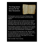 king james version of the new testament postcard