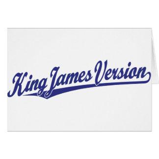 King James Version Script Logo in blue Card