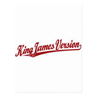 King James Version Script Logo in red Postcard