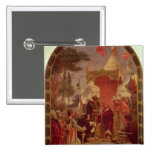 King John Granting the Magna Carta in 1215, 1900 2 Inch Square Button