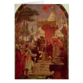 King John Granting the Magna Carta in 1215, 1900 Card