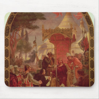 King John Granting the Magna Carta in 1215, 1900 Mouse Pad