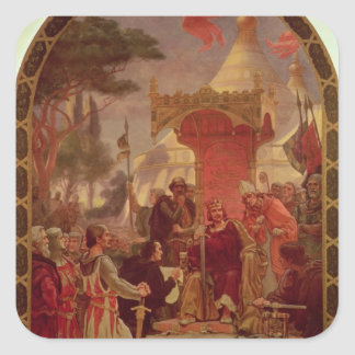 King John Granting the Magna Carta in 1215, 1900 Square Sticker