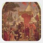 King John Granting the Magna Carta in 1215, 1900 Square Sticker