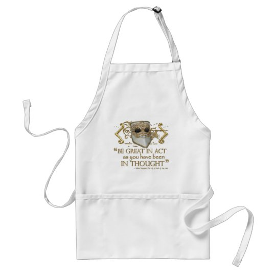 King John Quote (Gold Edition) Adult Apron