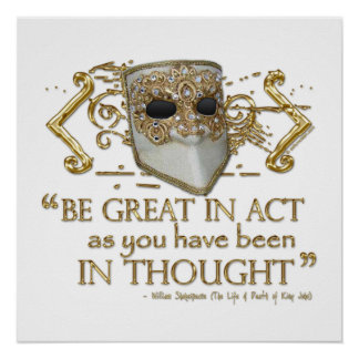 King John Quote (Gold Edition) Poster