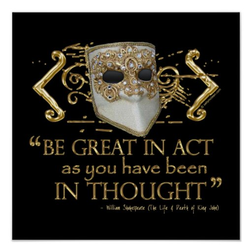 King John Quote (Gold Edition) Posters