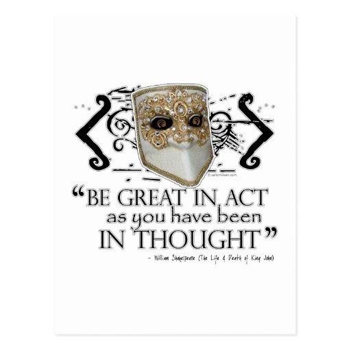 King John Quote Postcard