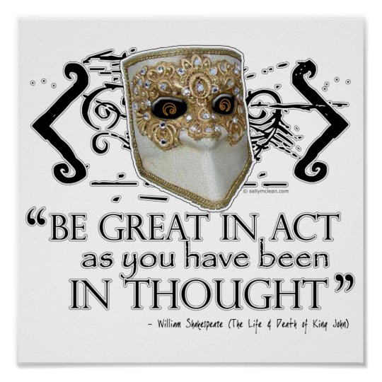 King John Quote Poster