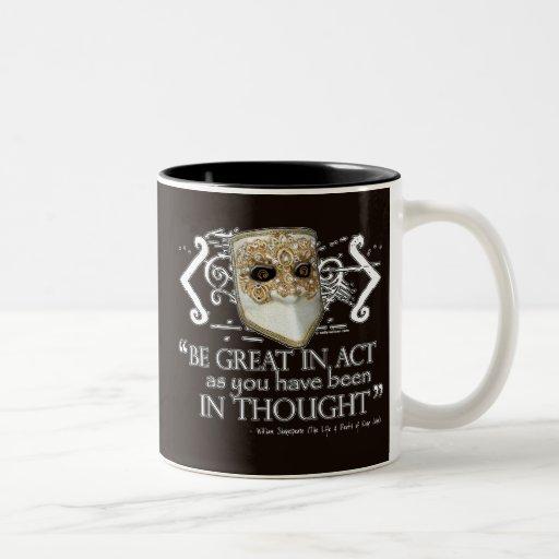 King John Quote Two-Tone Coffee Mug