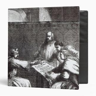 King John  refusing to sign Magna Charta Binder