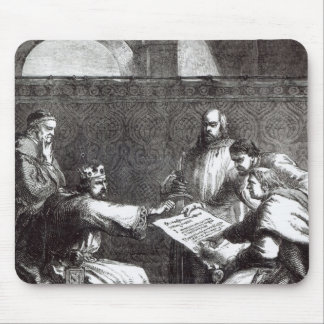 King John  refusing to sign Magna Charta Mouse Pad