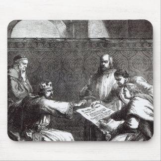 King John  refusing to sign Magna Charta Mouse Pad