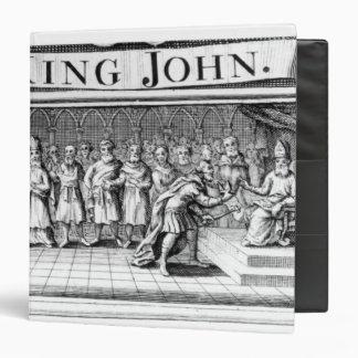 King John surrenders his crown Binder