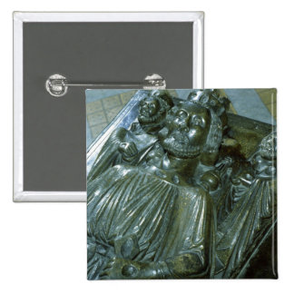 King John's Tomb with two miniature figures Pinback Button