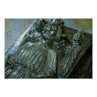 King John's Tomb with two miniature figures Poster