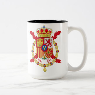 King Juan Carlos of Spain Two-Tone Coffee Mug