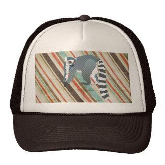 King Julian Vintage Stripes Lid Trucker Hat