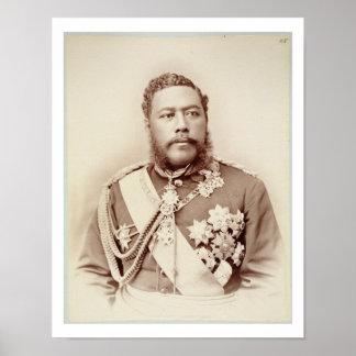 King Kalakaua (1836-91), late c19th (sepia photo) Poster
