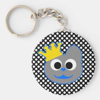 King Kat Blue - Gray Keychain