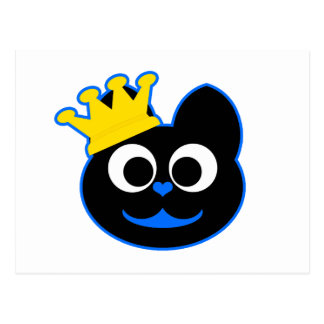 King Kat Blue Postcard