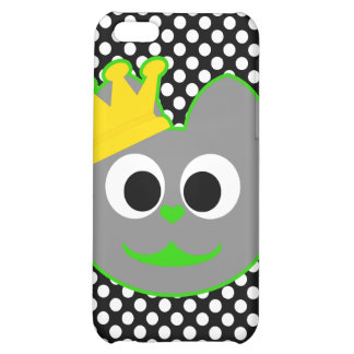 King Kat Green - Gray Case For iPhone 5C