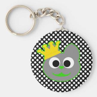 King Kat Green - Gray Keychain