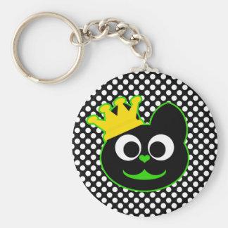 King Kat Green Keychain