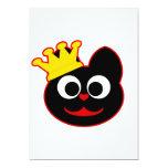 "King Kat Red 5"" X 7"" Invitation Card"