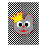 King Kat Red - Gray Personalized Announcement
