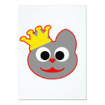 King Kat Red - Gray Personalized Invitations