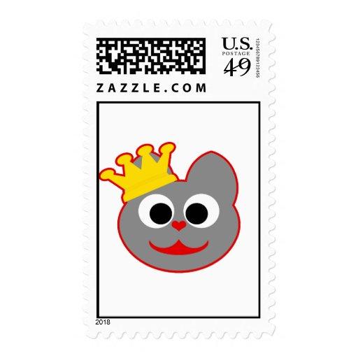 King Kat Red - Gray Postage Stamps