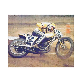 """King"" Kenny Roberts, in action on the dirt bike Canvas Print"