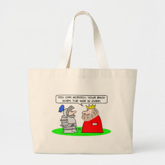 king knight scratch back war over canvas bags