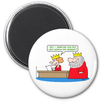 king lady godiva off-budget 2 inch round magnet