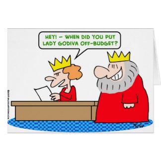 king lady godiva off-budget cards