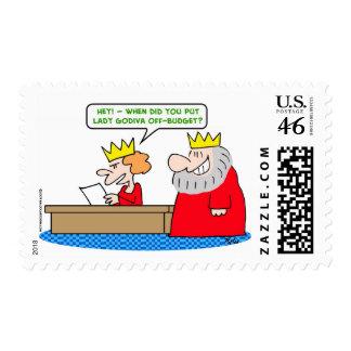 king lady godiva off-budget postage stamp
