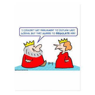 king lady godiva regulate outlaw postcards
