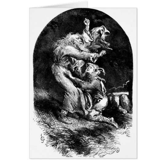 King Lear and Fool in a Storm Card