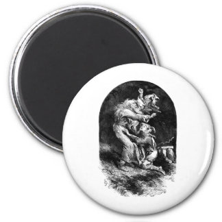 King Lear and Fool in a Storm Fridge Magnet