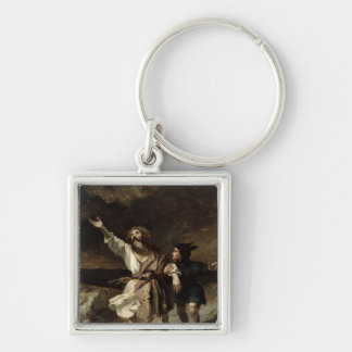 King Lear and the Fool in the Storm Keychain