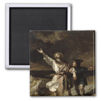 King Lear and the Fool in the Storm Refrigerator Magnet
