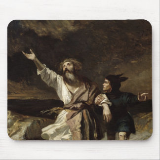 King Lear and the Fool in the Storm Mouse Pad