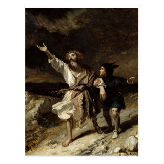 King Lear and the Fool in the Storm Postcards