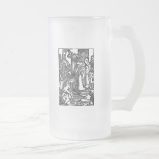King Lear Frosted Glass Beer Mug
