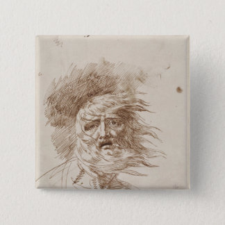 King Lear in the Storm (pen and bistre ink on pape Button