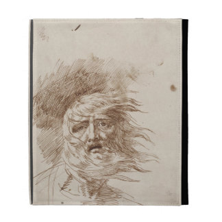 King Lear in the Storm (pen and bistre ink on pape iPad Folio Case